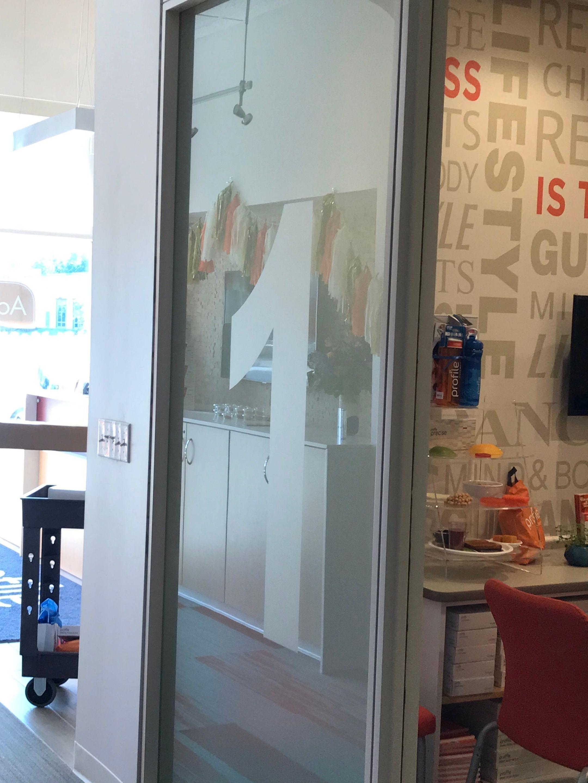 Profile Etch glass vinyl custom custom office identifying