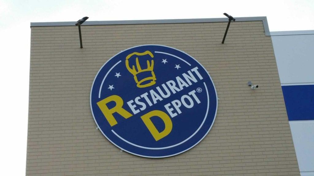 Restaurant Depot logo sign circle storefront exterior signage