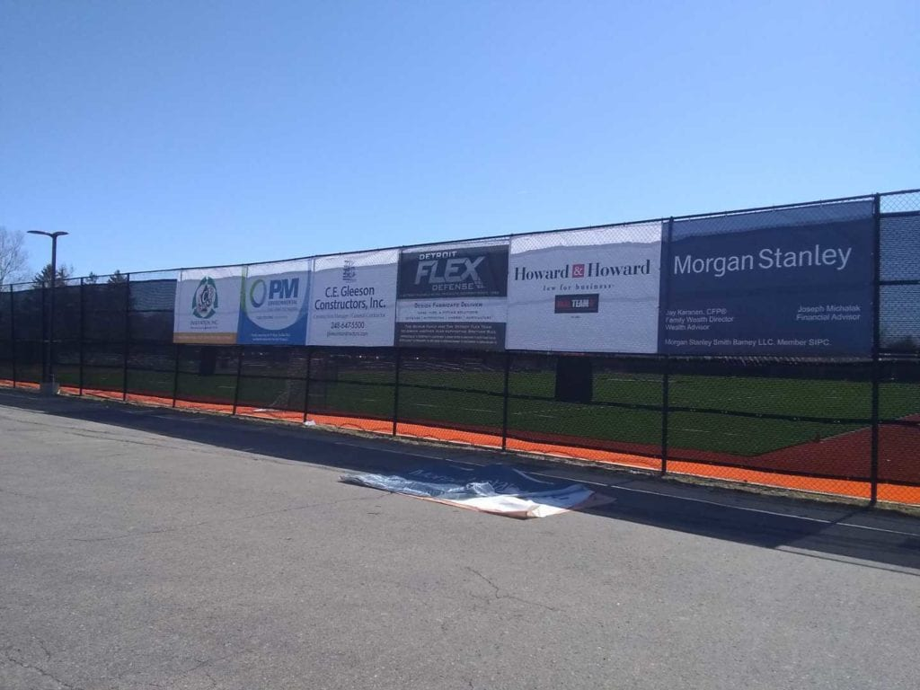 Brother Rice School Soccer Field Fence Banners Sponsers