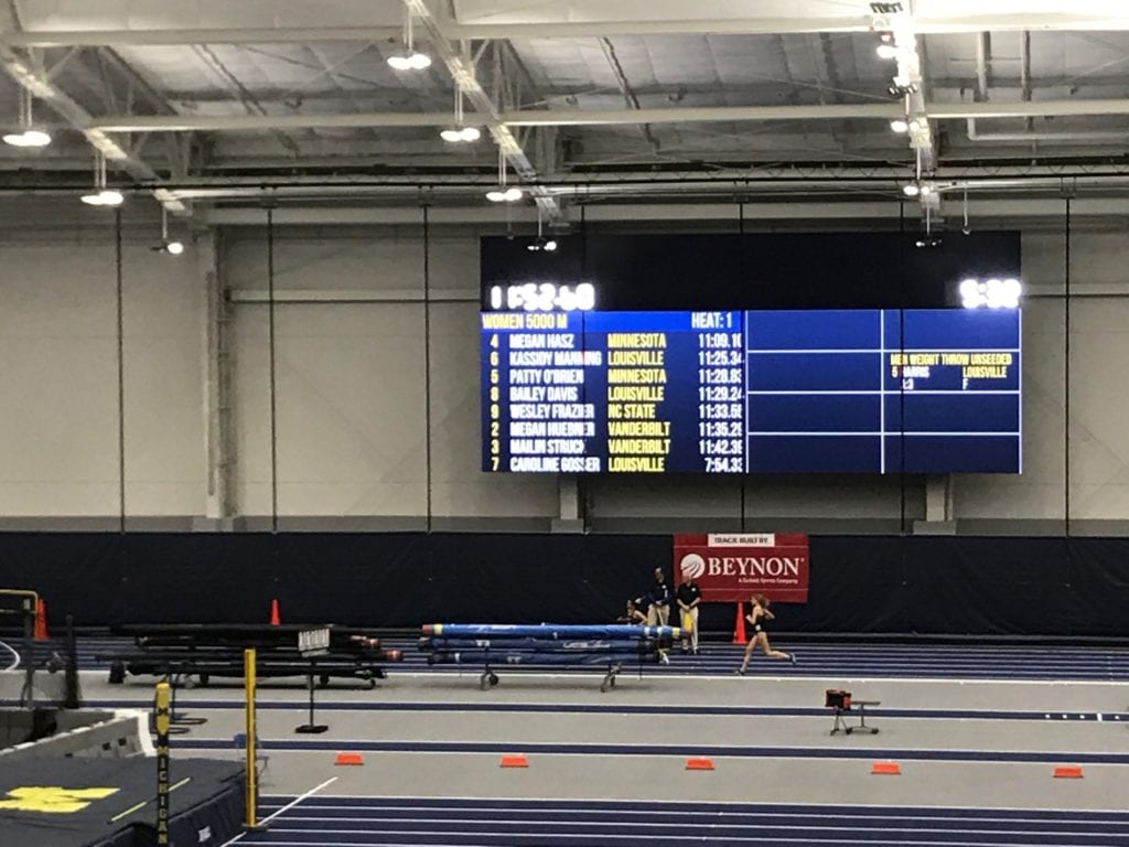 University of Michigan Gynasium DIgital EMC Led Display Screen