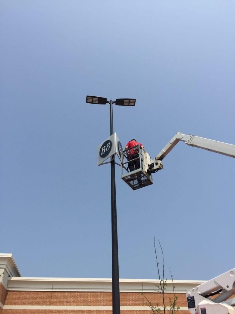 Woodland Mall Lot Pole Identification signs2