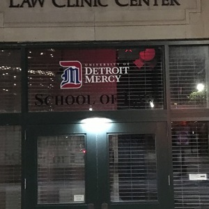 University of Detroit Mercy Door Vinyl