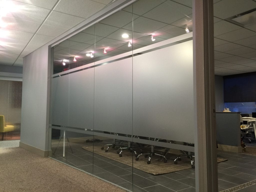 Conference Room etched vinyl windows