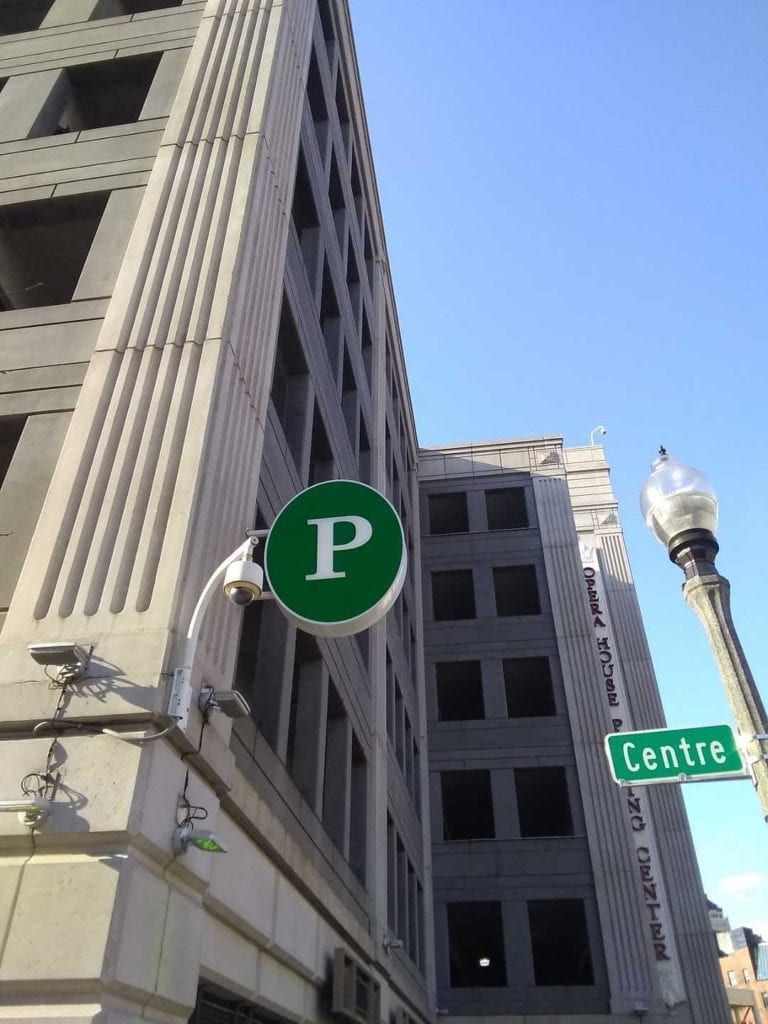Detroit Opera House Parking Sign