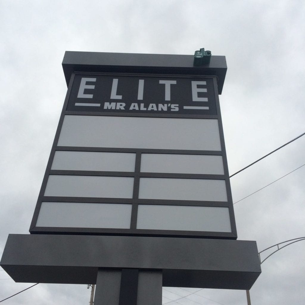 Elite Mr. Alan's Plaza Pylon blank multi tenant panel faces