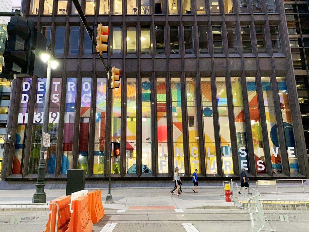 Detroit Design 139 custom vinyl windows downtown exterior building