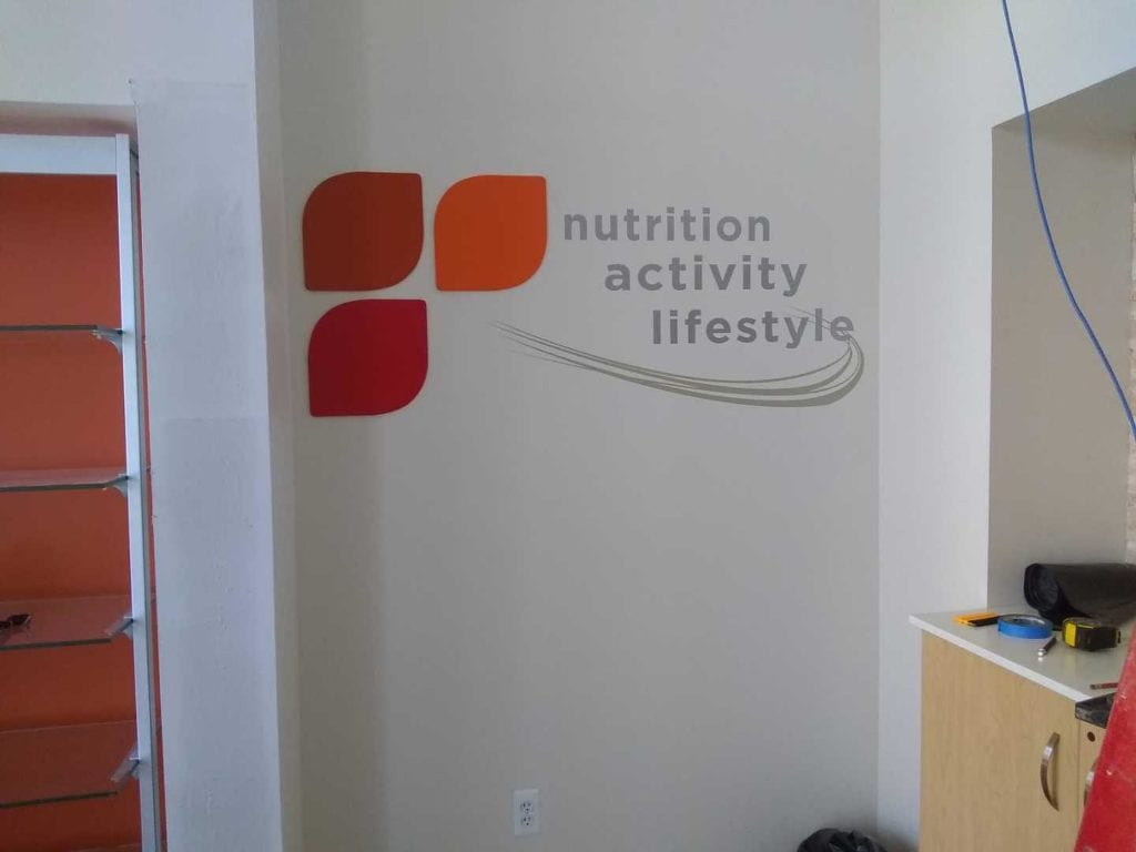 Nutrition Office Wall VInyl graphics logo
