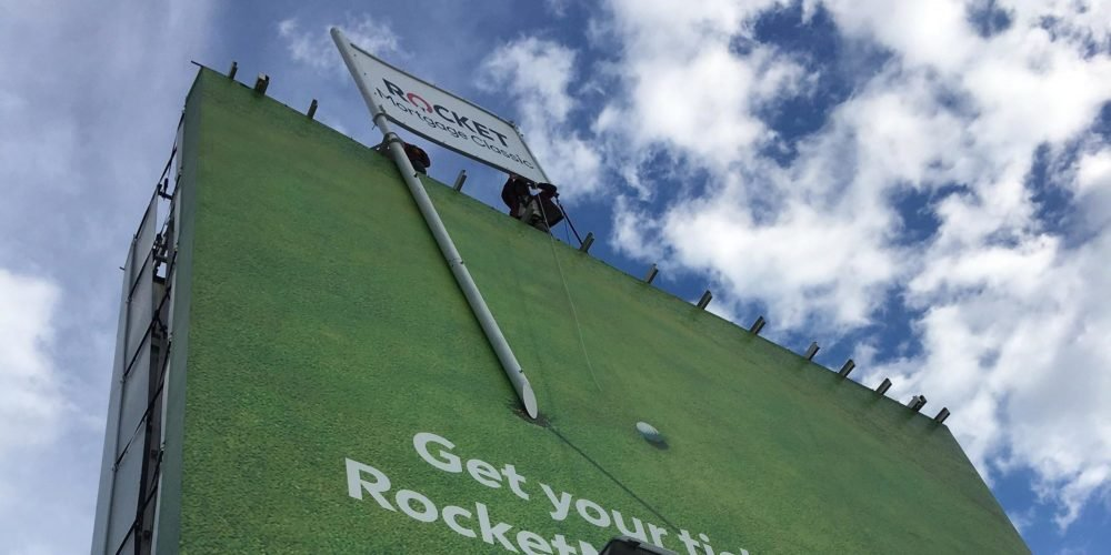 Rocket Mortgage Billboard Installation