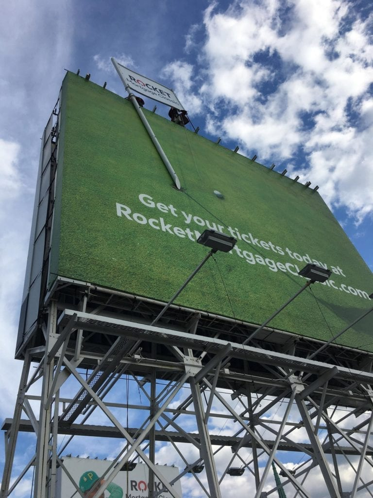 Rocket Mortgage Classic Golf dimensional Billboard