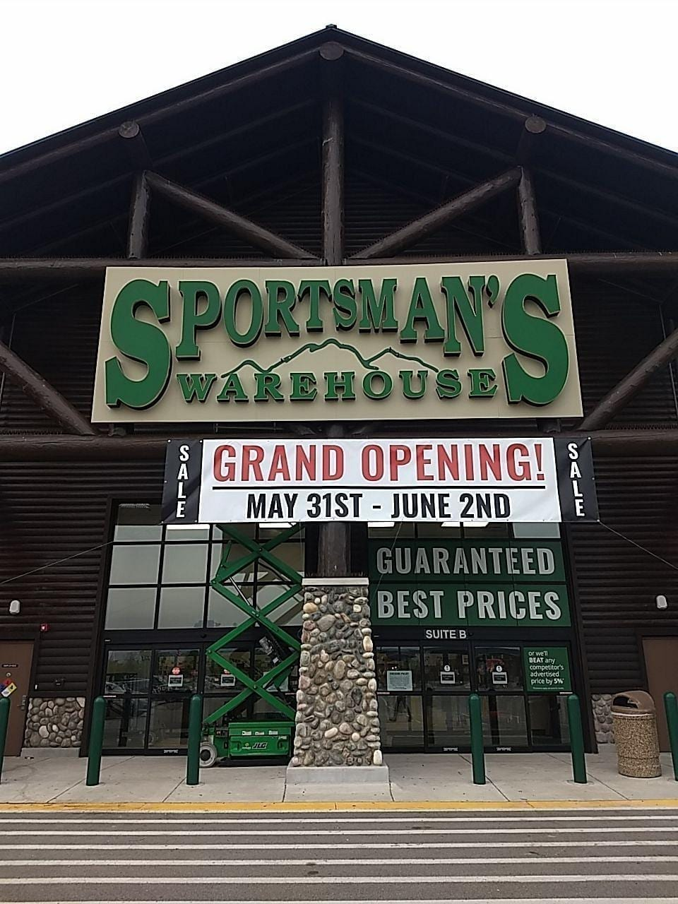 Sportsman's Warehouse backer illuminating canopy storefront sign channel Letters black returns