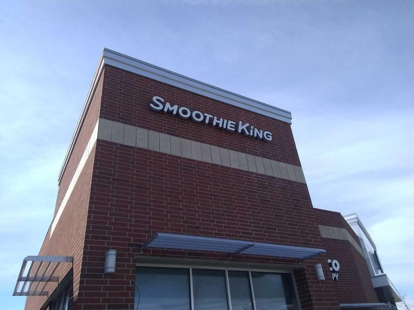Smoothie King Flush Mounted channel letters