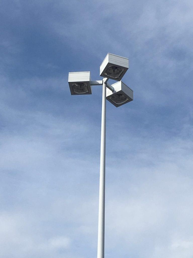 kmart pole lights Retrofit parking lot