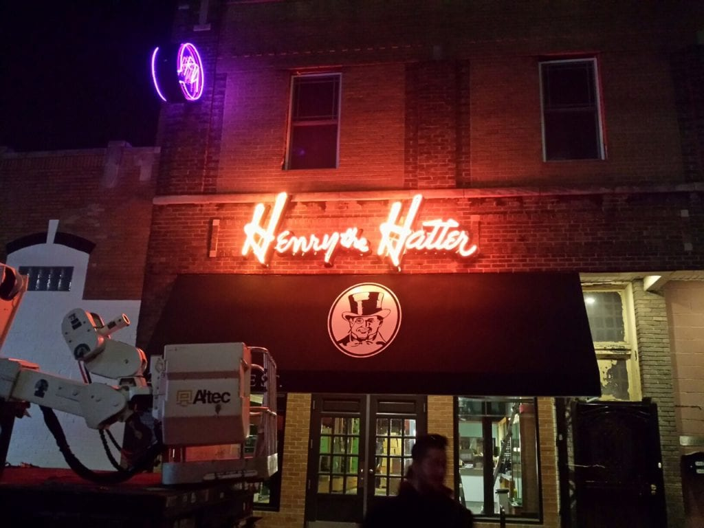 Henry the Hatter Neon Sign
