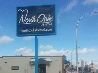North Oarks Dental Pylon Pole Sign