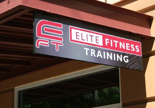 Elite Fitness Training Overhead Hanging Sign