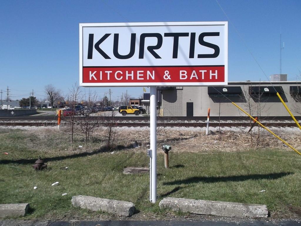 Kurtis Kitchen & Bath Pylon Sign