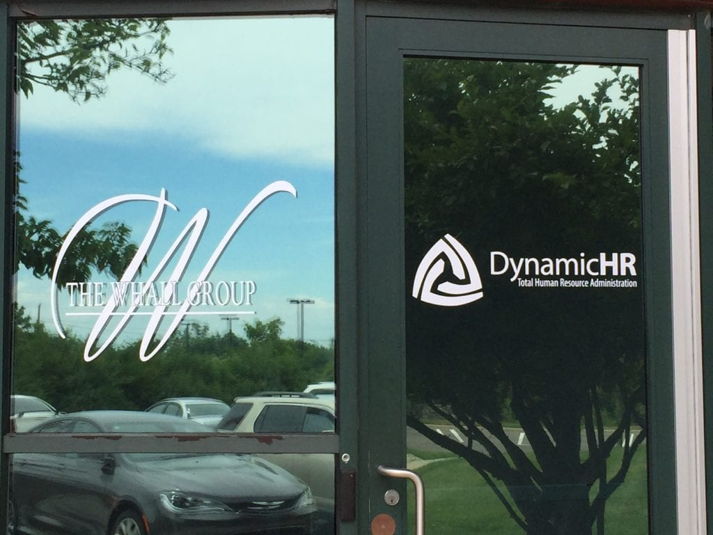 The Whall Group Dynamic HR Door window vinyls