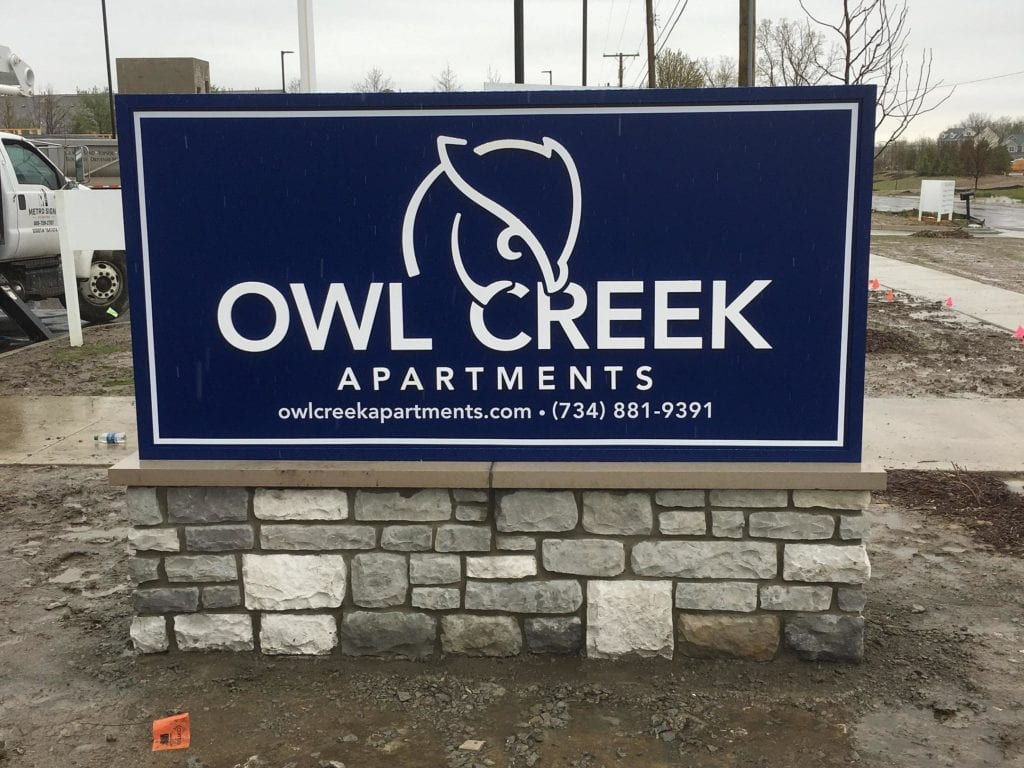 Owl Creek Apartments Monument