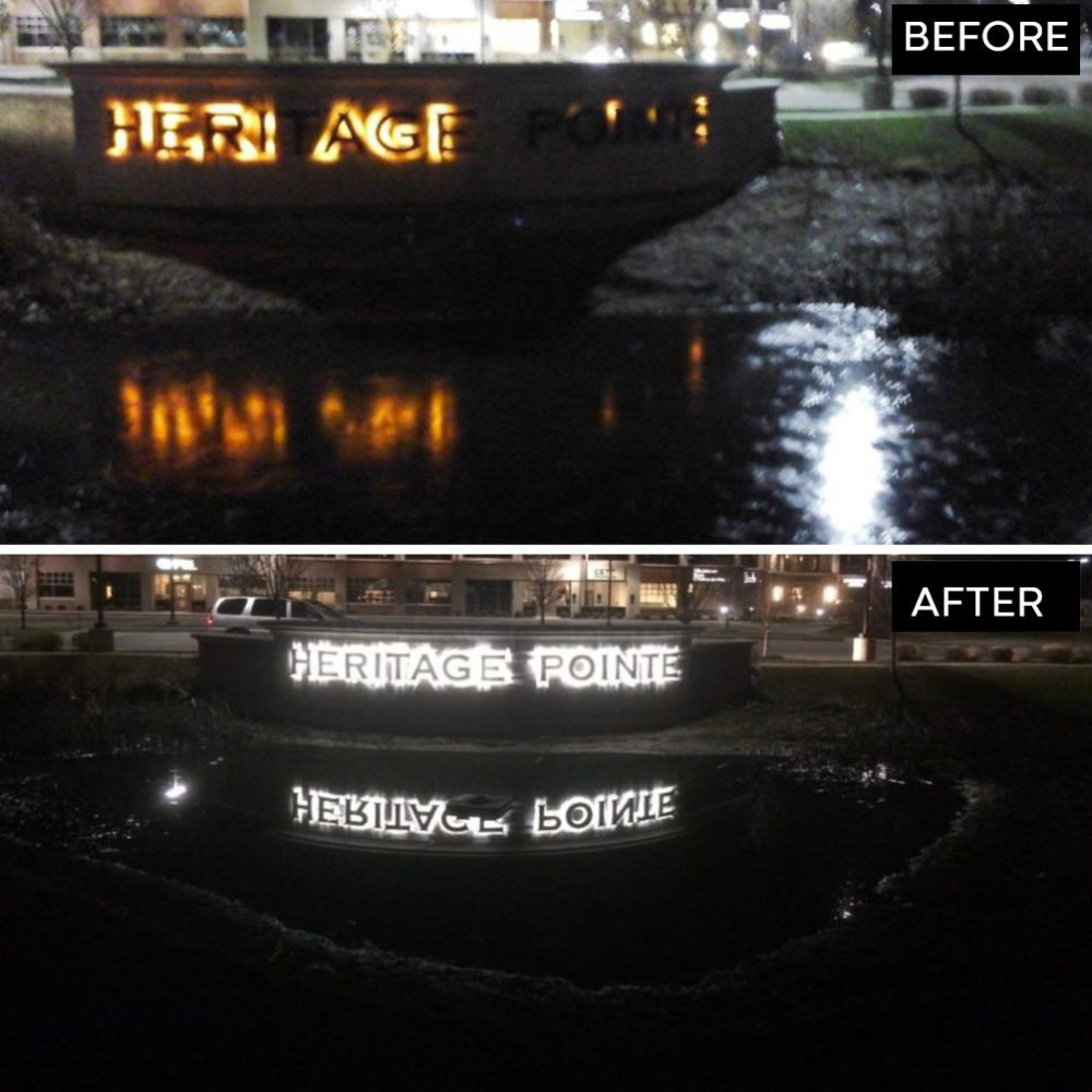 Before and After Hertiage Sign