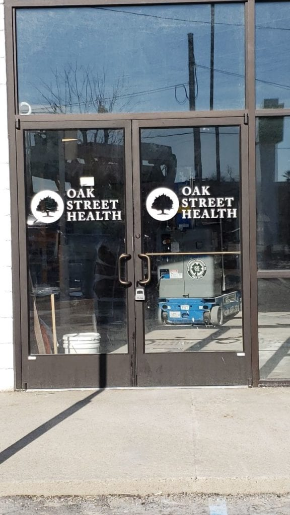 oakstreet health flint door vinyl
