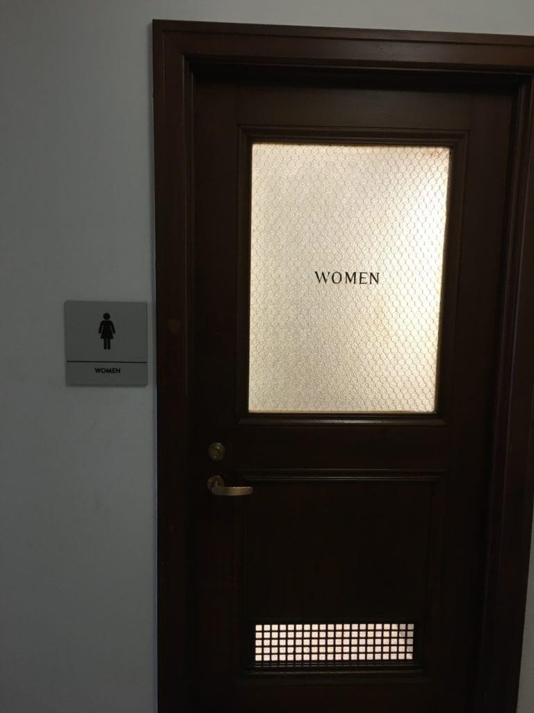 Bedrock first nation ada signs_ womens women restroom bathroom