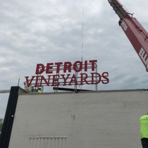 Recent Highlighted Projects Signage signs Detroit metro Grand Rapids