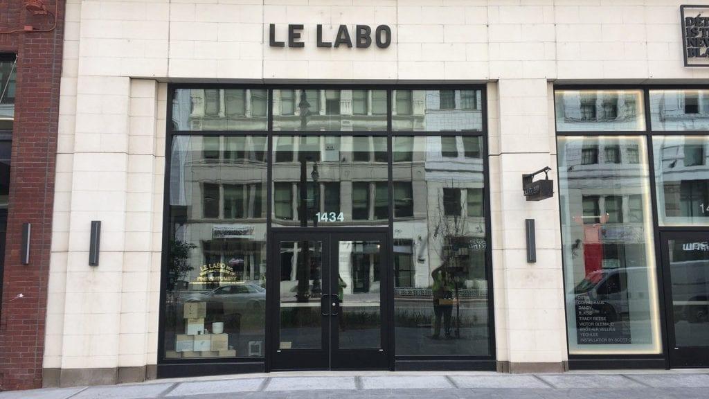 Le Labo Detroit storefront MI 1434 dimensional black matte letters