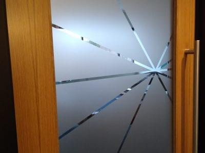 Mathworks Custom Ofiice Etched Glass Dooor Vinyl